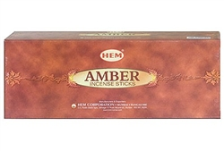Wholesale Hem Amber Incense 20 Stick Packs (6/Box)