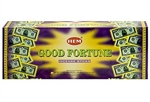 Wholesale Hem Good Fortune Incense 20 Stick Packs (6/Box)