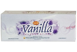 Wholesale Hem Vanilla Incense 20 Stick Packs (6/Box)