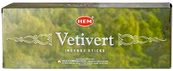 Wholesale Hem Vetivert Incense 20 Stick Packs (6/Box)