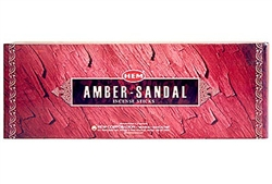 Wholesale Hem Amber-Sandal Incense 20 Stick Packs (6/Box)