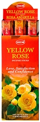 Wholesale Hem Yellow Rose Incense 20 Stick Packs (6/Box)