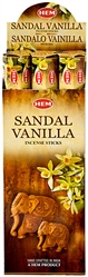 Wholesale Hem Sandal-Vanilla Incense 20 Stick Packs (6/Box)