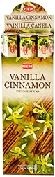 Wholesale Hem Vanilla-Cinnamon Incense 20 Stick Packs (6/Box)