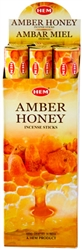 Wholesale Hem Amber-Honey Incense 20 Stick Packs (6/Box)