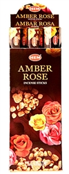 Wholesale Hem Amber-Rose Incense 20 Stick Packs (6/Box)