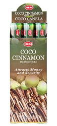 Wholesale Hem Coco-Cinnamon Incense 20 Stick Packs (6/Box)