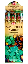Wholesale Hem Patchouli-Amber Incense 20 Stick Packs (6/Box)