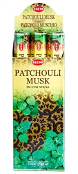 Wholesale Hem Patchouli-Musk Incense 20 Stick Packs (6/Box)