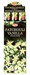 Wholesale Hem Patchouli-Vanilla Incense 20 Stick Packs (6/Box)