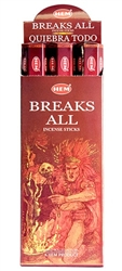 Wholesale Hem Breaks All Incense 20 Stick Packs (6/Box)