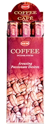 Wholesale Hem Coffee Incense 20 Stick Packs (6/Box)
