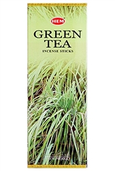 Wholesale Hem Green Tea Incense 20 Stick Packs (6/Box)