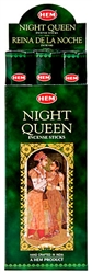 Wholesale Hem Night Queen Incense 20 Stick Packs (6/Box)