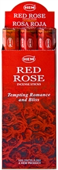 Wholesale Hem Red Rose Incense 20 Stick Packs (6/Box)