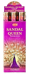 Wholesale Hem Sandal Queen Incense 20 Stick Packs (6/Box)