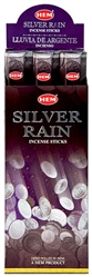 Wholesale Hem Silver Rain Incense 20 Stick Packs (6/Box)