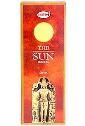 Wholesale Hem Sun Incense 20 Stick Packs (6/Box)