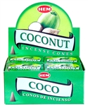 Wholesale Hem Coconut Cones 10 Cones Pack (12/Box)