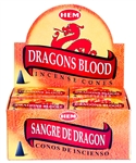 Wholesale Hem Dragon Blood Cones 10 Cones Pack (12/Box)