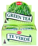 Wholesale Hem Green Tea Cones 10 Cones Pack (12/Box)