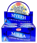 Wholesale Hem Myrrh Cones 10 Cones Pack (12/Box)