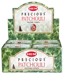 Wholesale Hem Precious Patchouli Cones 10 Cones Pack (12/Box)