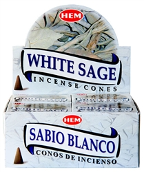 Wholesale Hem White Sage Cones 10 Cones Pack (12/Box)