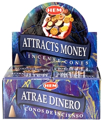 Wholesale Hem Attracts Money Cones 10 Cones Pack (12/Box)