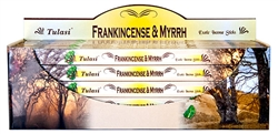 Wholesale Tulasi Frank & Myrrh Incense 8 Stick Packs (25/Box)