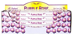Wholesale Wholesale Tulasi Purple Rose Incense 8 Stick Packs (25/Box)