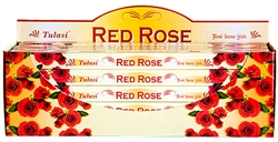 Wholesale Tulasi Red Rose Incense 8 Stick Packs (25/Box)