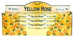 Wholesale Tulasi Yellow Rose Incense 8 Stick Packs (25/Box)