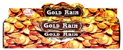 Wholesale Tulasi Gold Rain Incense 20 Stick Packs (6/Box)