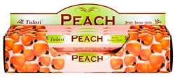 Wholesale Tulasi Peach Incense 20 Stick Packs (6/Box)