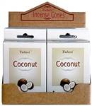Wholesale Tulasi Coconut Cones 15 Cones/Pack (12/Box)