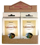 Wholesale Tulasi Frankincense & Myrrh Cones 15 Cones/Pack (12/Box)