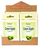 Wholesale Tulasi Green Apple Cones 15 Cones/Pack (12/Box)