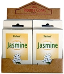 Wholesale Tulasi Jasmine Cones 15 Cones/Pack (12/Box)