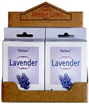Wholesale Tulasi Lavender Cones 15 Cones/Pack (12/Box)
