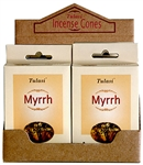 Wholesale Tulasi Myrrh Cones 15 Cones/Pack (12/Box)