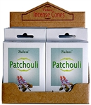 Wholesale Tulasi Patchouli Cones 15 Cones/Pack (12/Box)