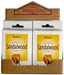 Wholesale Tulasi Sandalwood Cones 15 Cones/Pack (12/Box)