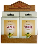 Wholesale Tulasi Vanilla Cones 15 Cones/Pack (12/Box)