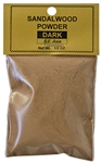Wholesale Sandalwood Powder - Dark (S.E. Asia) - 1/2 OZ.