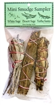 "Wholesale Mini Smudge Sampler 4""L (White Sage, Desert Sage, Yerba Santa) (Pack of 3)"