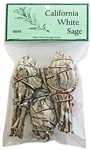 "Wholesale California White Sage Smudges 4""L Mini (Torch Style) (Pack of 3)"