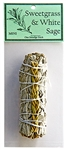 "Wholesale White Sage with Sweetgrass 4""L (Mini)"