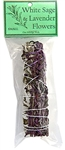 "Wholesale White Sage with Lavender Flowers Smudge 5""L (Small)"