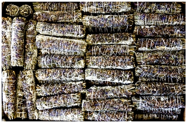 "Wholesale White Sage with Lavender Flowers Smudge 5""L (Small) (Pack of 100)"